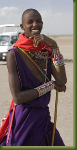 Kenya safari tribesman